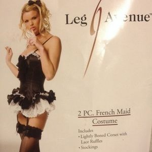 French Maid Halloween Costume L